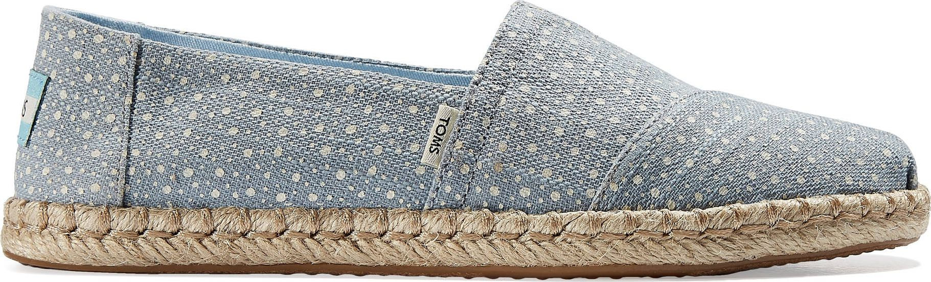 TOMS Sunspots Crossweave Women's Rope Alpargata Sky Blue 37