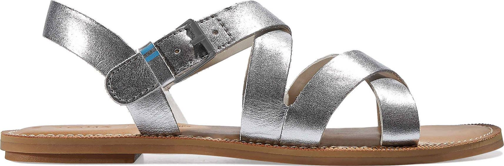 TOMS Leather Women's Sicily Silver 37,5