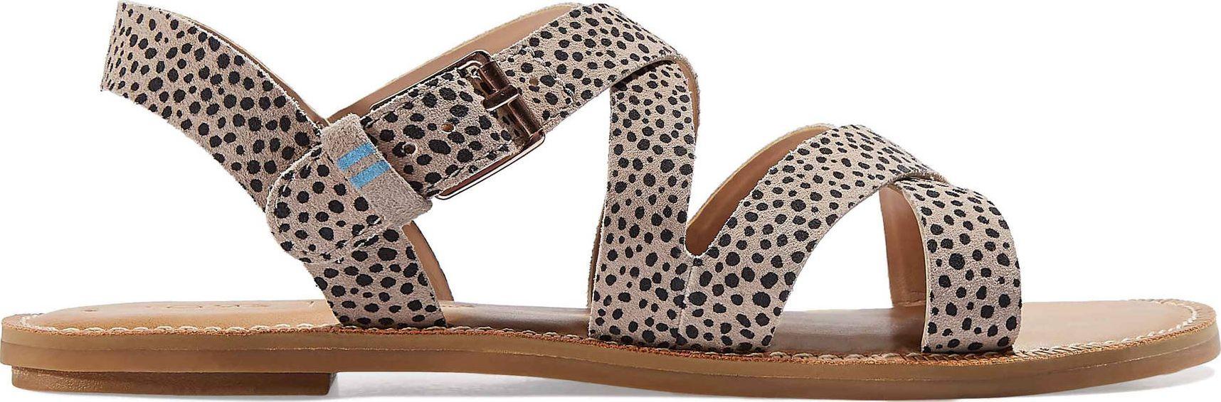 TOMS Mini Cheetah Suede Women's Sicily Sandal Macadamia 42