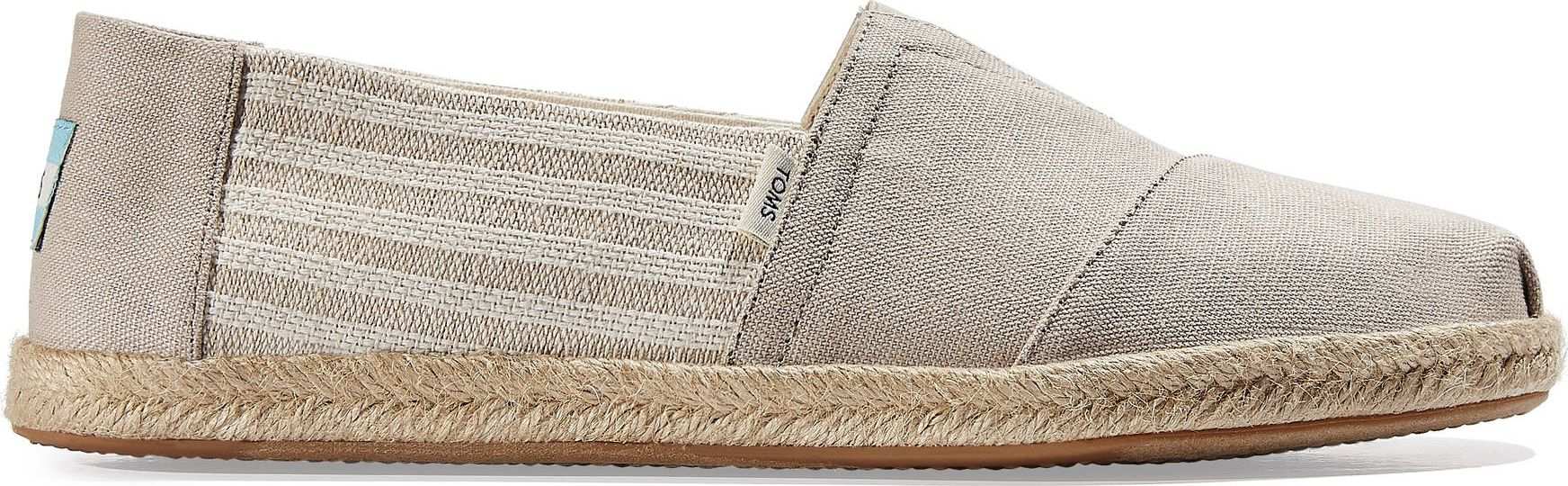 TOMS University Stripes Men's Rope Alpargata Oxford Tan 46