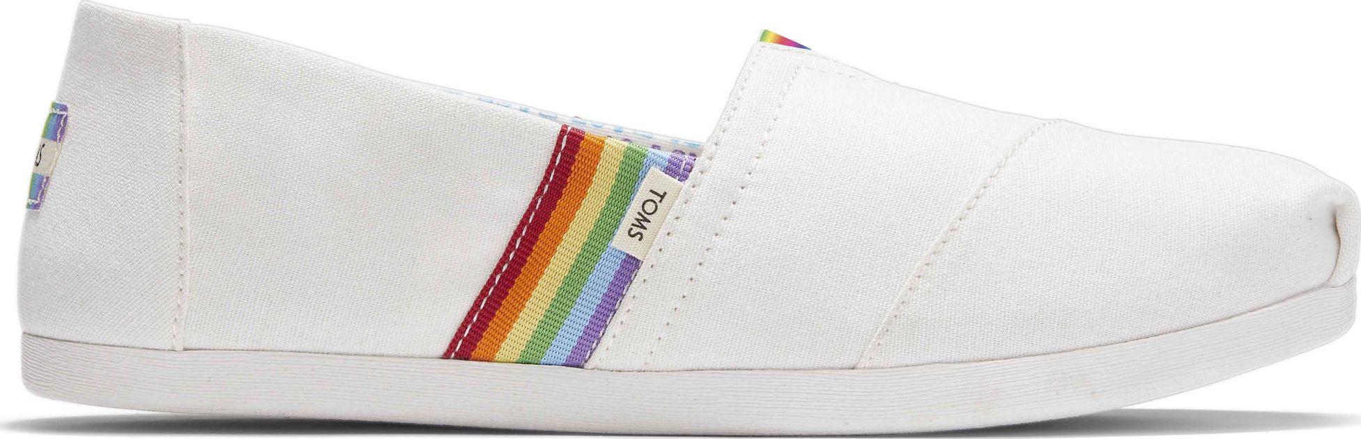 TOMS Unity Rainbow Canvas Women's Alpargata White 39