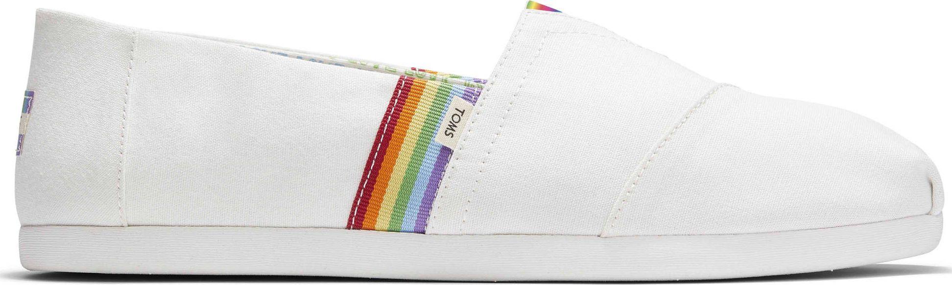 TOMS Unity Rainbow Canvas Men's Alpargata White 46
