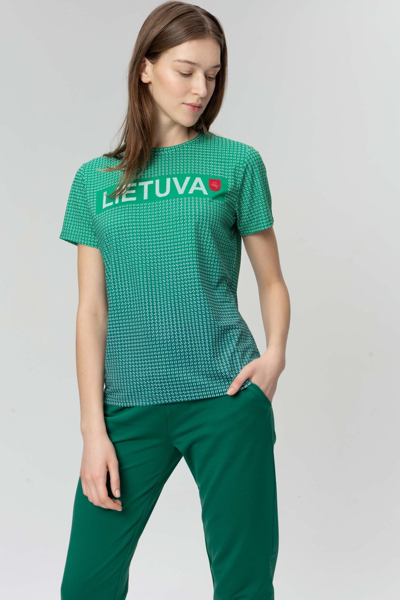 AUDIMAS Funkcionalūs marškinėliai 20LT-001 Jolly Green Printed L