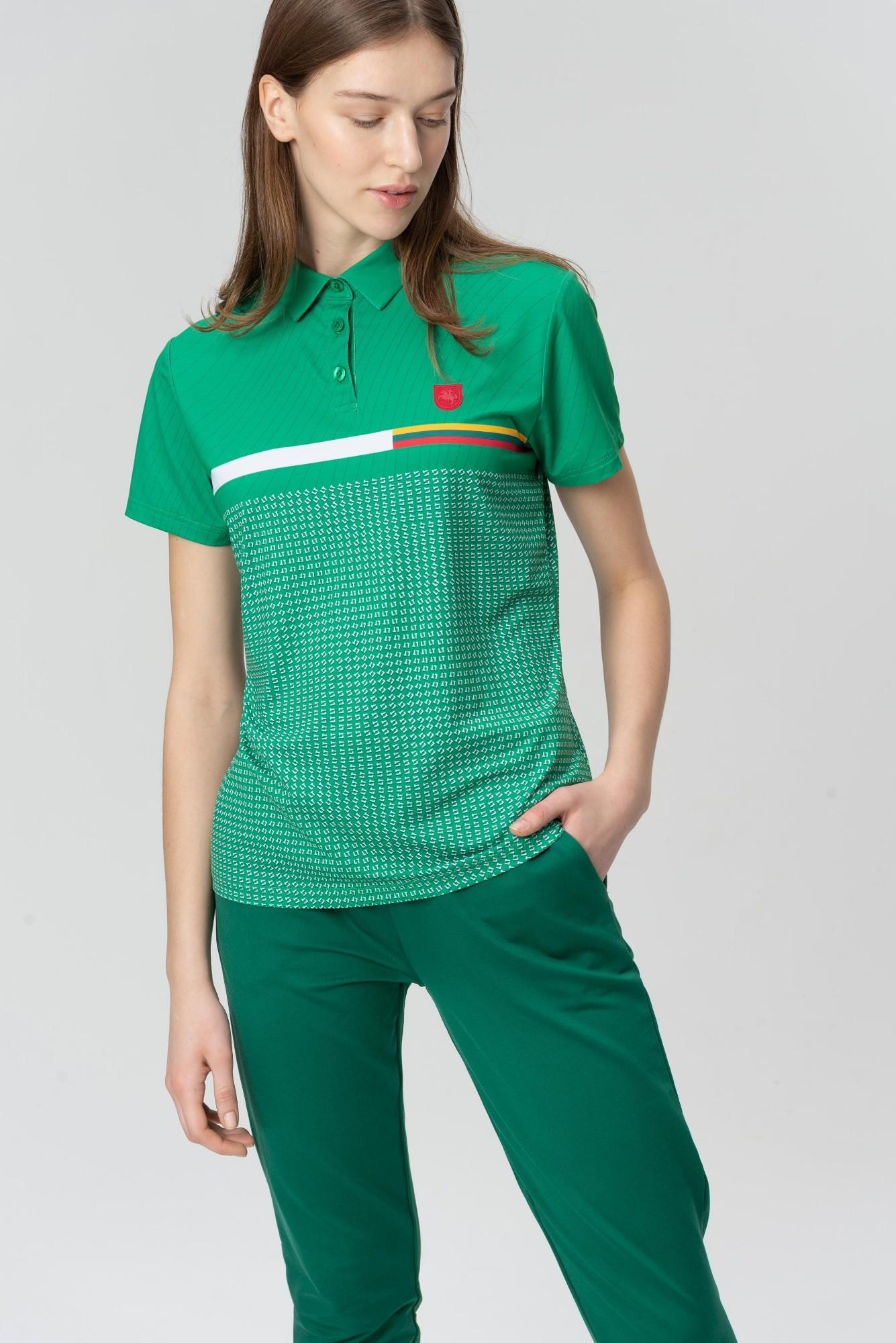 AUDIMAS Funkcionalūs polo marškinėliai 20LT-002 Jolly Green Printed L