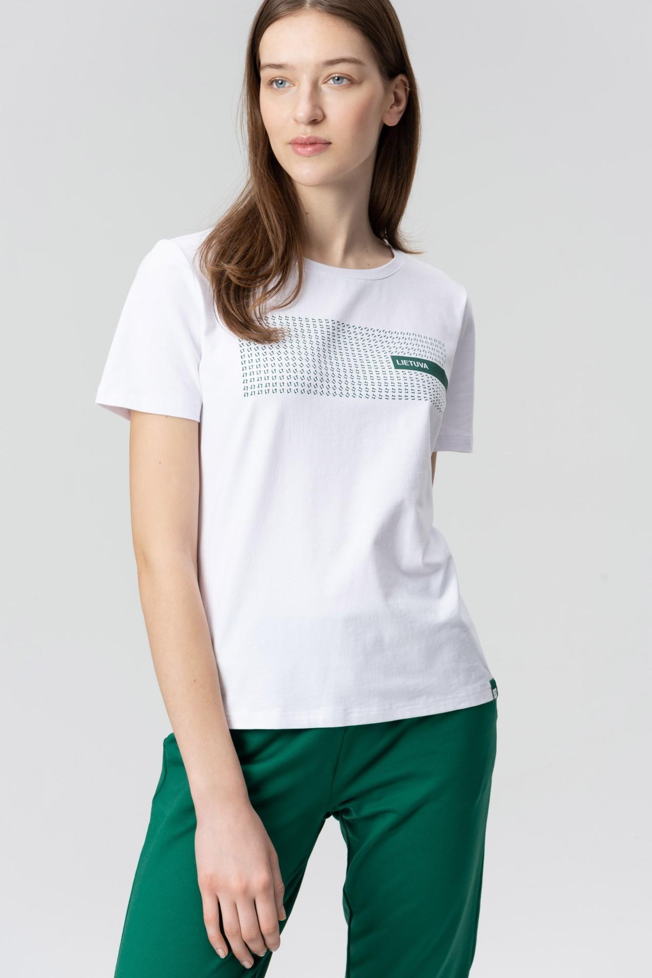 AUDIMAS Medvilnės marškinėliai 20LT-003 White Lt S