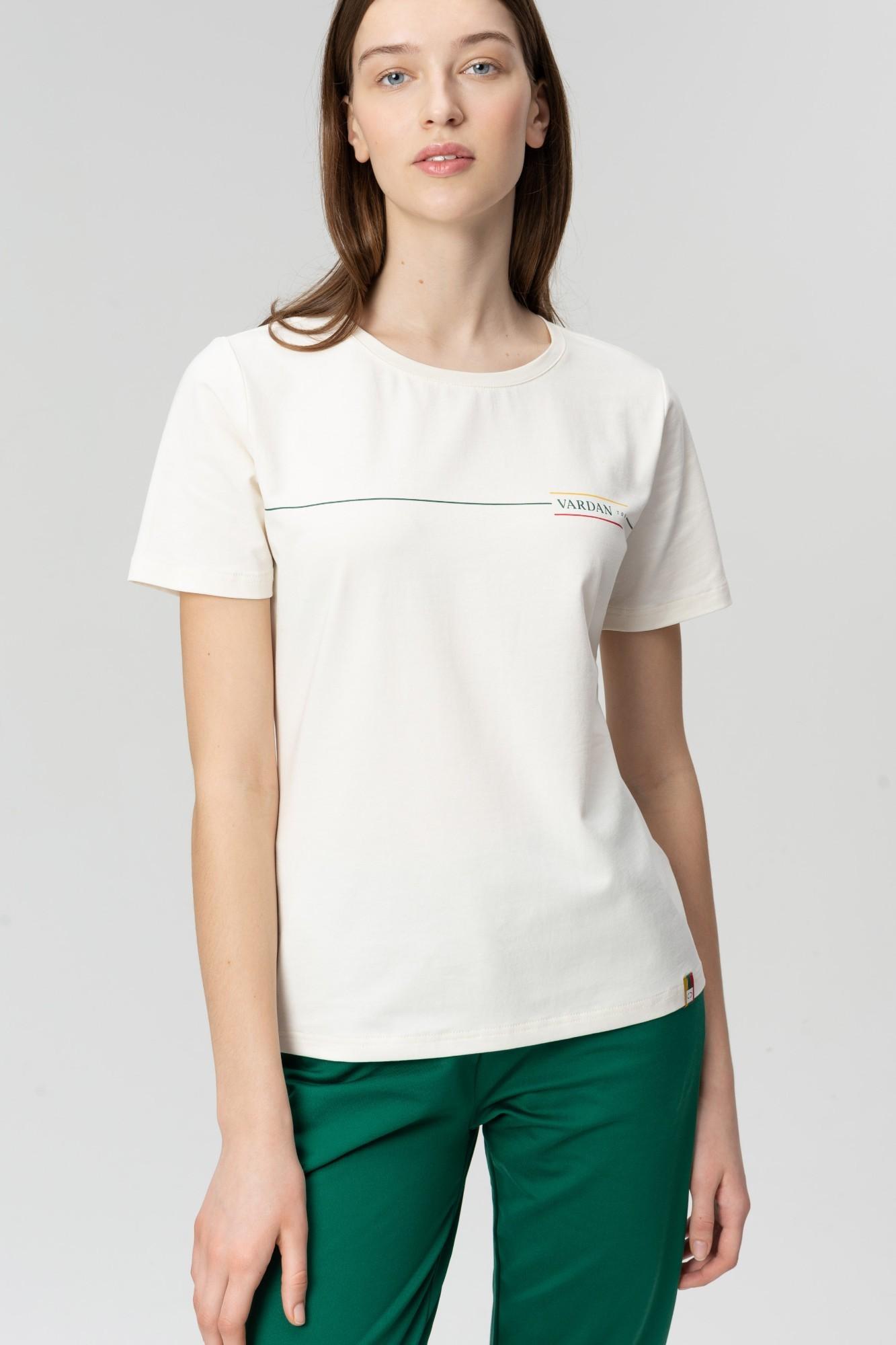 AUDIMAS Medvilnės marškinėliai 20LT-003 White S