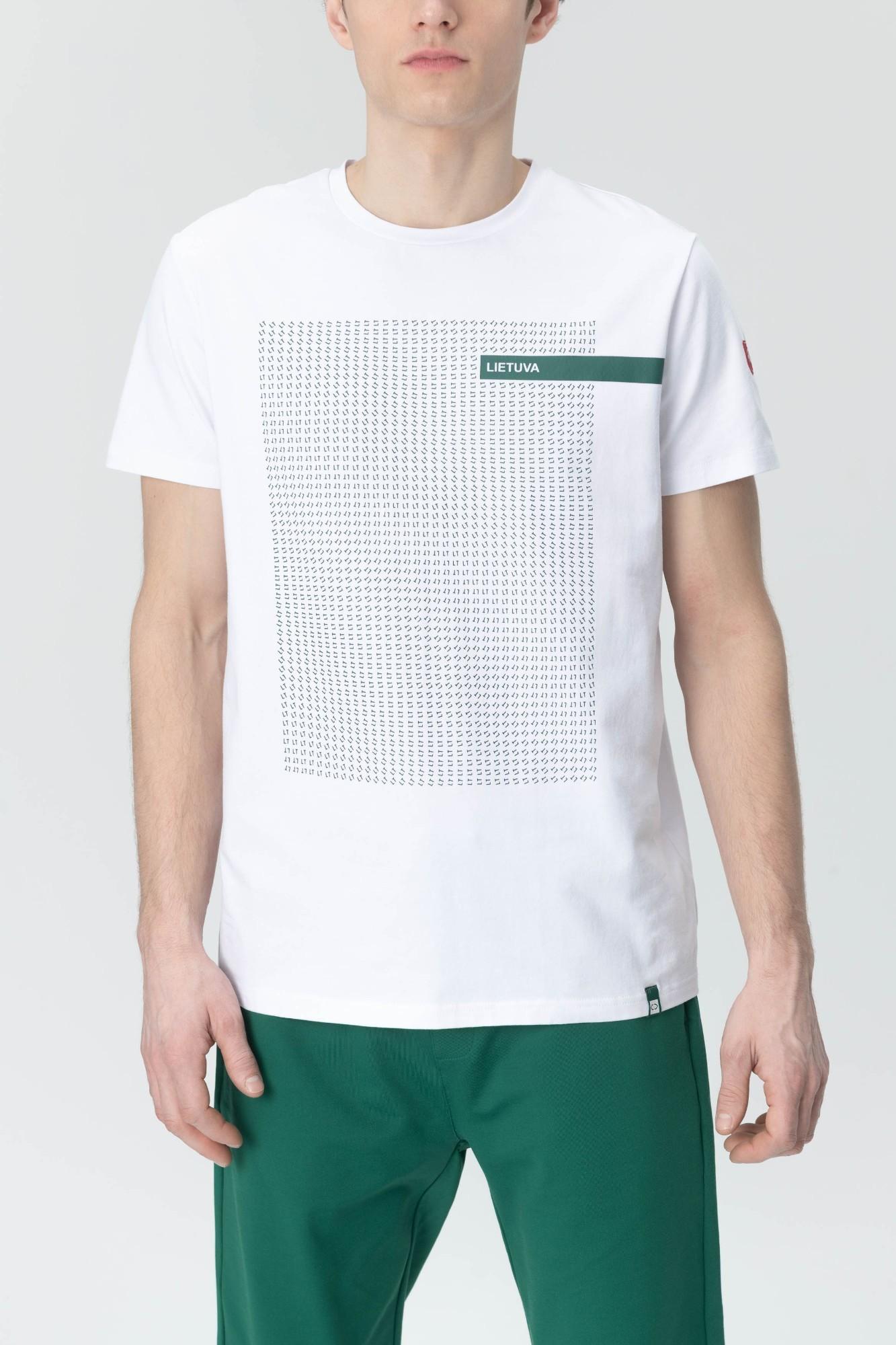 AUDIMAS Marg. medvilniniai marškinėliai 20LT-403 White Lt S