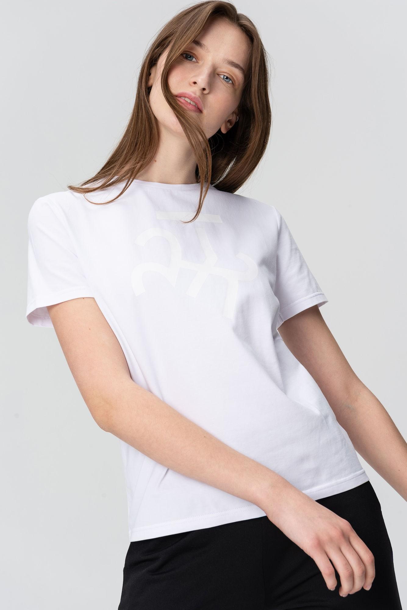 AUDIMAS Marškinėliai trumpomis rankovėmis 20HR-021 Vytis1/White Printed L