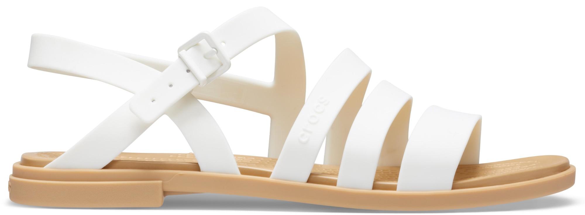 Crocs™ Tulum Sandal Womens Oyster/Tan 35