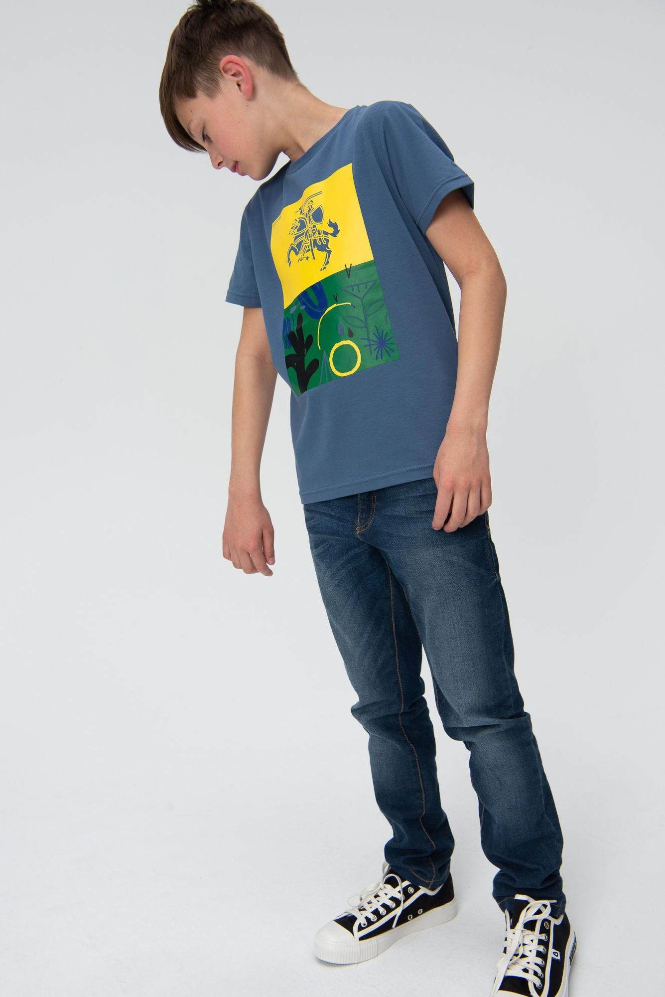 AUDIMAS Marškinėliai trumpomis rankovėmis 20HR-035 Vytis3/Bering Sea Printed 140