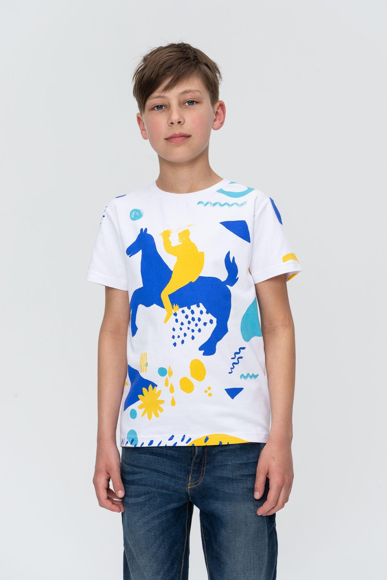 AUDIMAS Marškinėliai trumpomis rankovėmis 20HR-035 Vytis5/White Printed 128