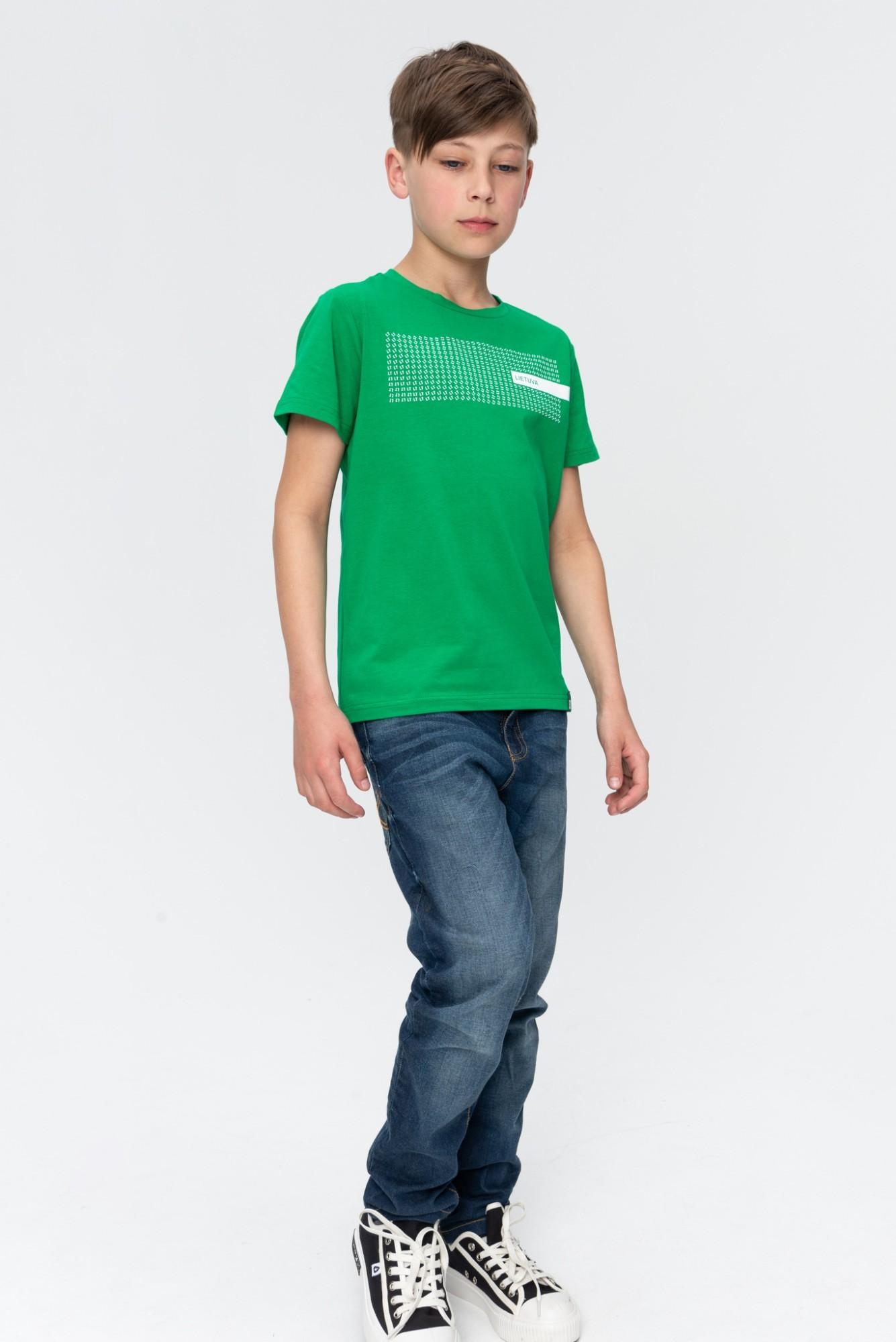 AUDIMAS Marg. medvilniniai marškinėliai 20LT-410 Jolly Green Lt 128