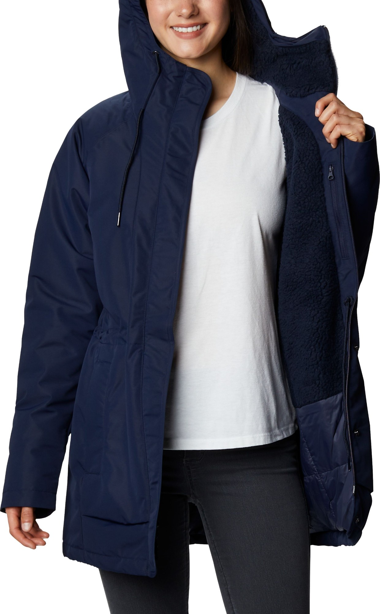 Columbia South Canyon Sherpa Lined Jacket Dark Nocturnal S