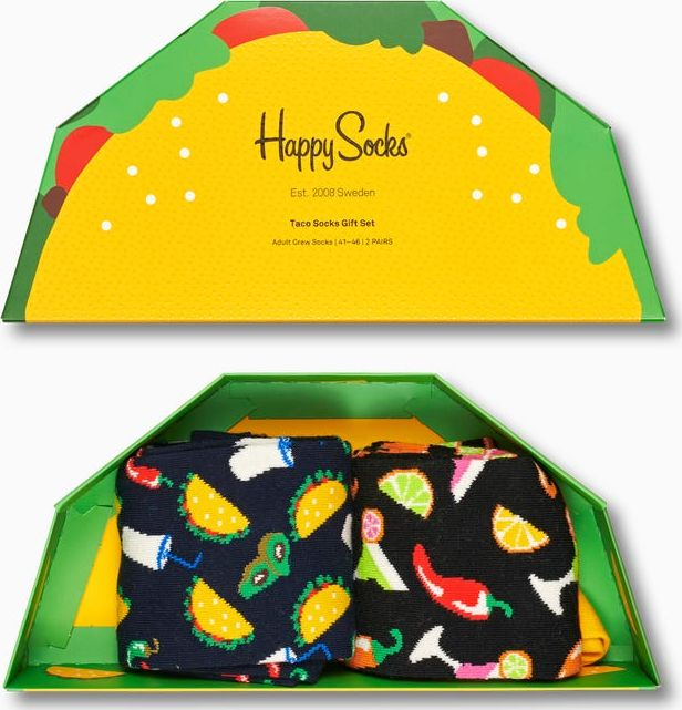 Happy Socks 2-Pack Taco Socks Gift Set Multi 6500 36-40