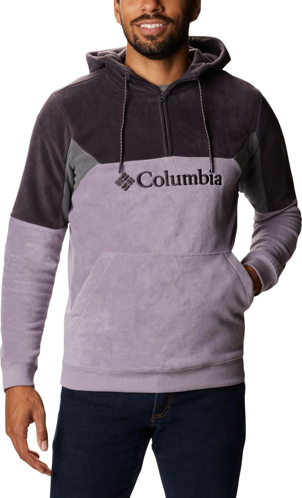 Columbia Lodge II Fleece Men's Hoodie Shale Purple/Dark Purple/City Grey L
