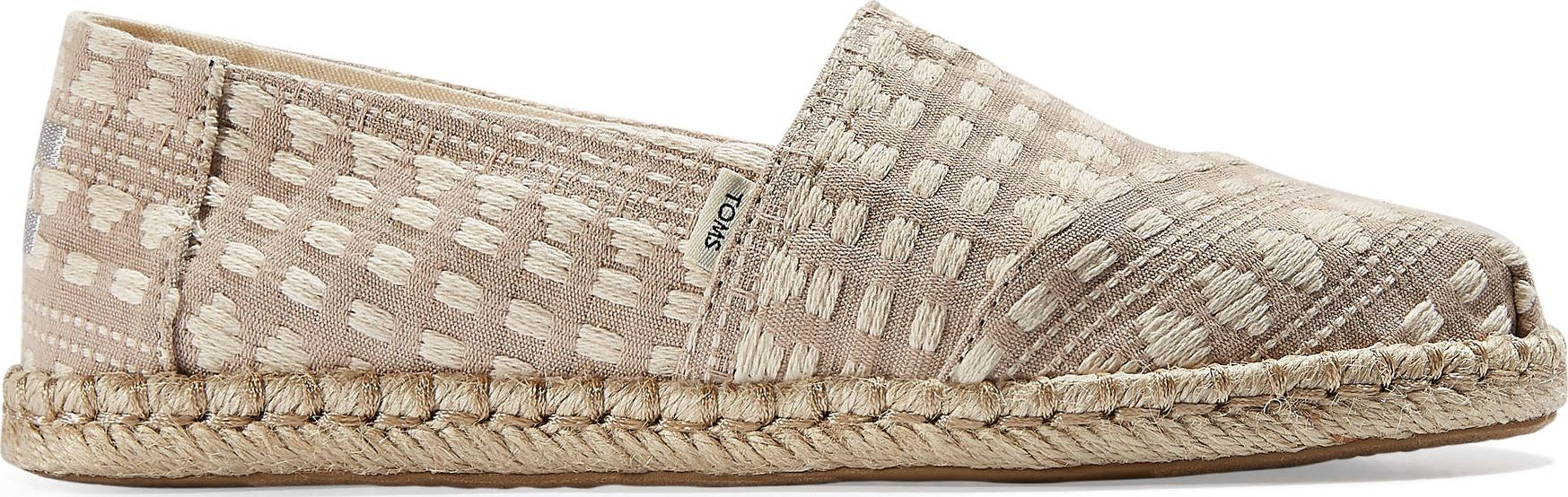 TOMS Global Woven Rope Women's Alpargata Taupe 39
