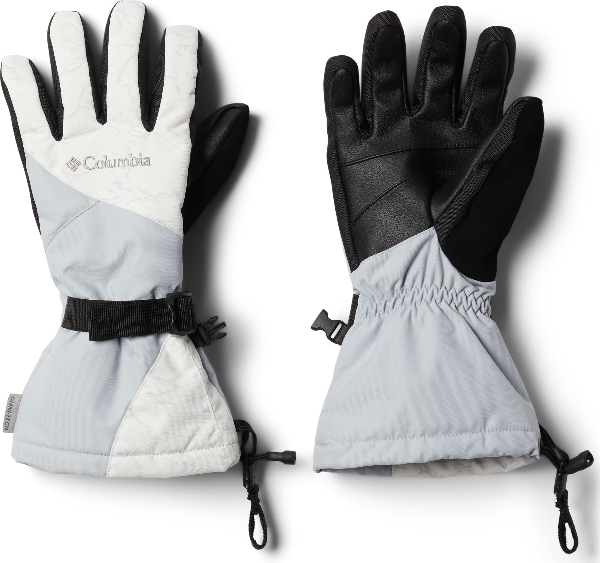 Columbia Whirlibird Glove Women's White Crackle Print/Cirrus Grey S
