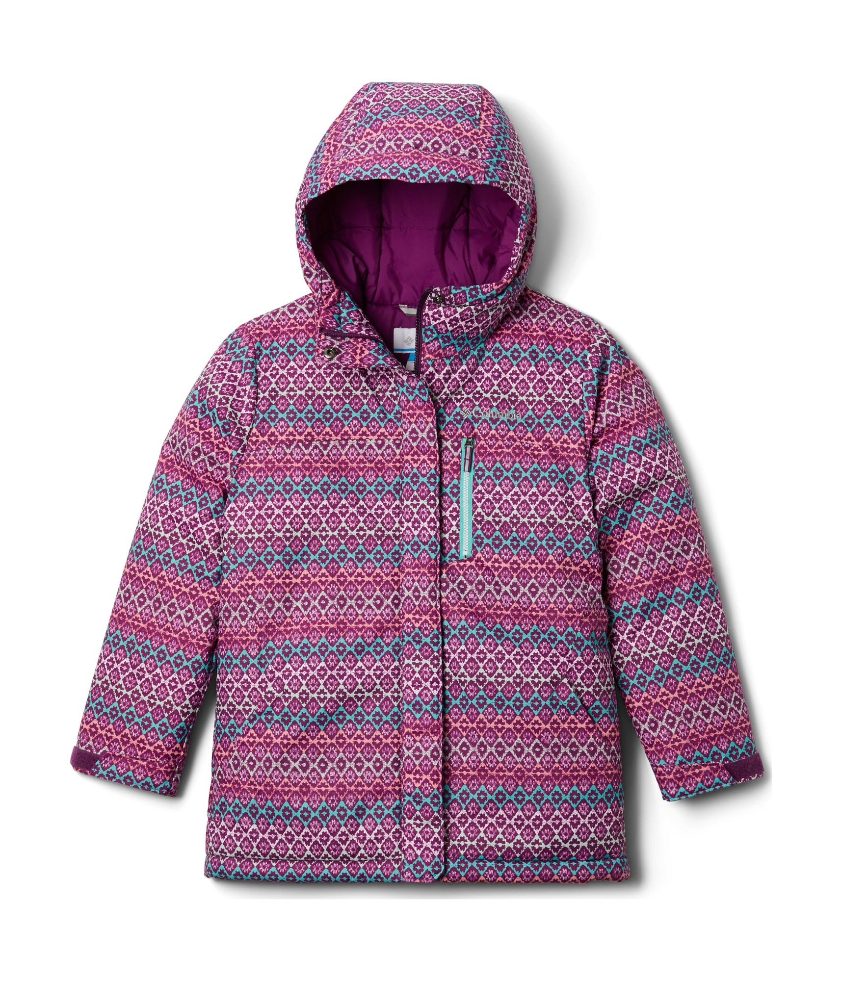 Columbia Alpine Free Fall II Jacket 1863463 Plum/Diamond Stripe Print 140
