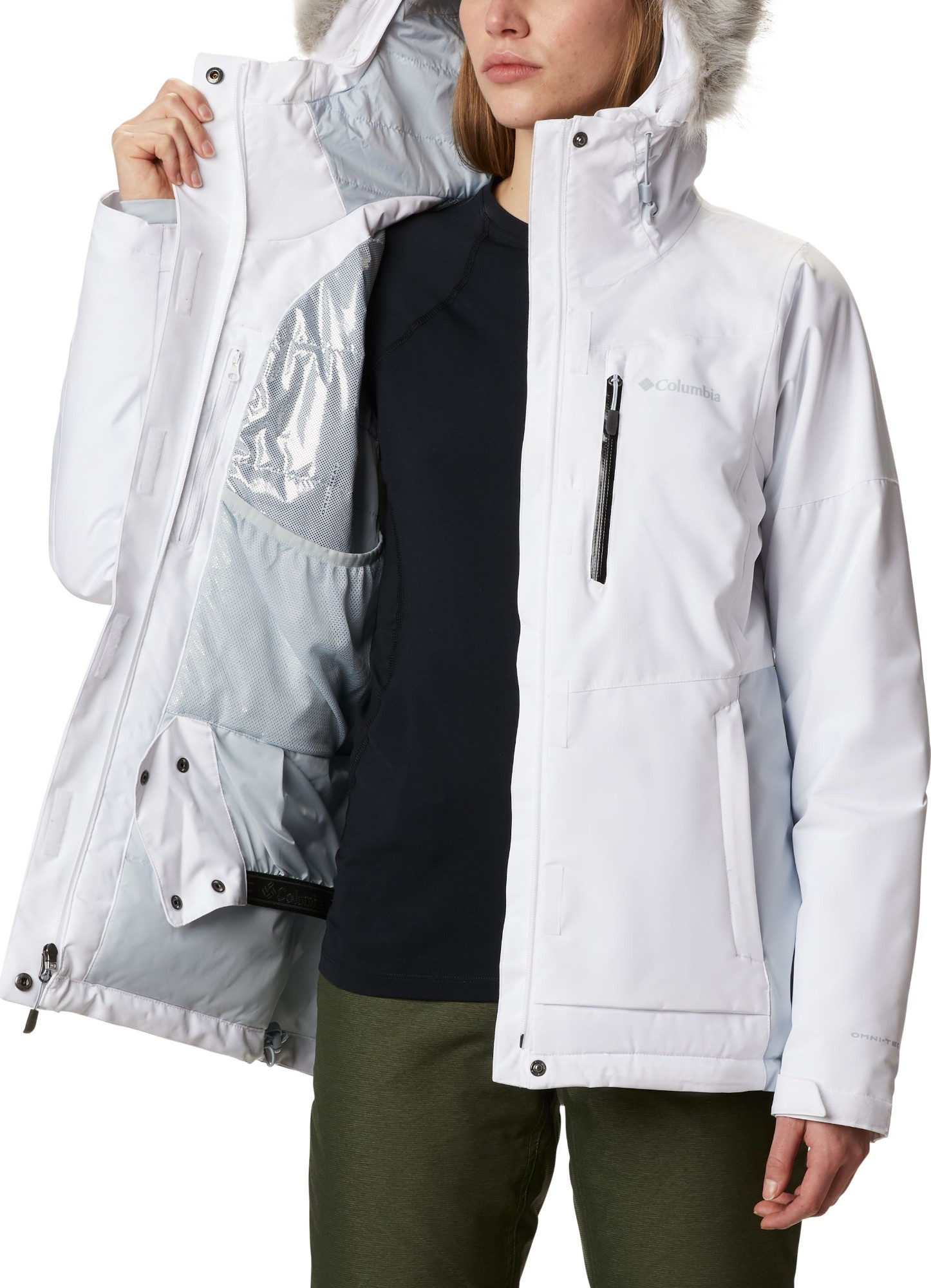 Columbia Ava Alpine Insulated Jacket Women's White/Cirrus Grey S