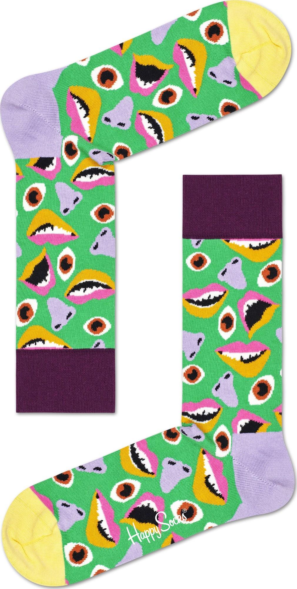 Happy Socks Face Sock Multi 7000 36-40