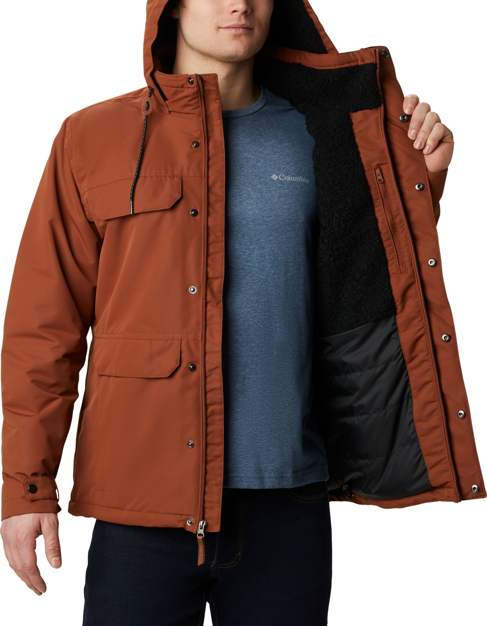 Columbia South Canyon Lined Jacket Men's Dark Amber L