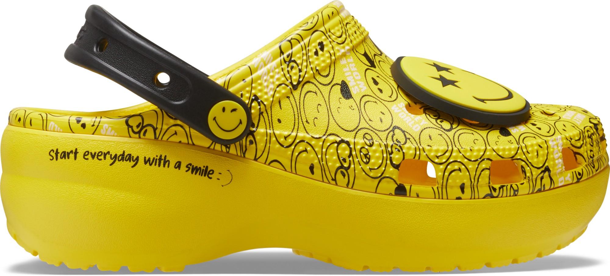 Crocs™ Classic Platform Smiley Clog Women's Multi 37,5