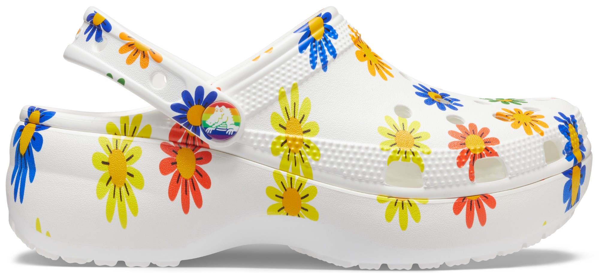 Crocs™ Classic Translucent Glitter Platform White/Multi 38,5