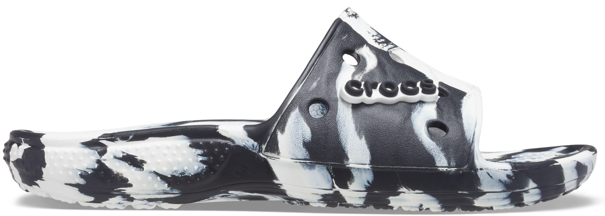 Crocs™ Classic Marbled Slide White/Black 41