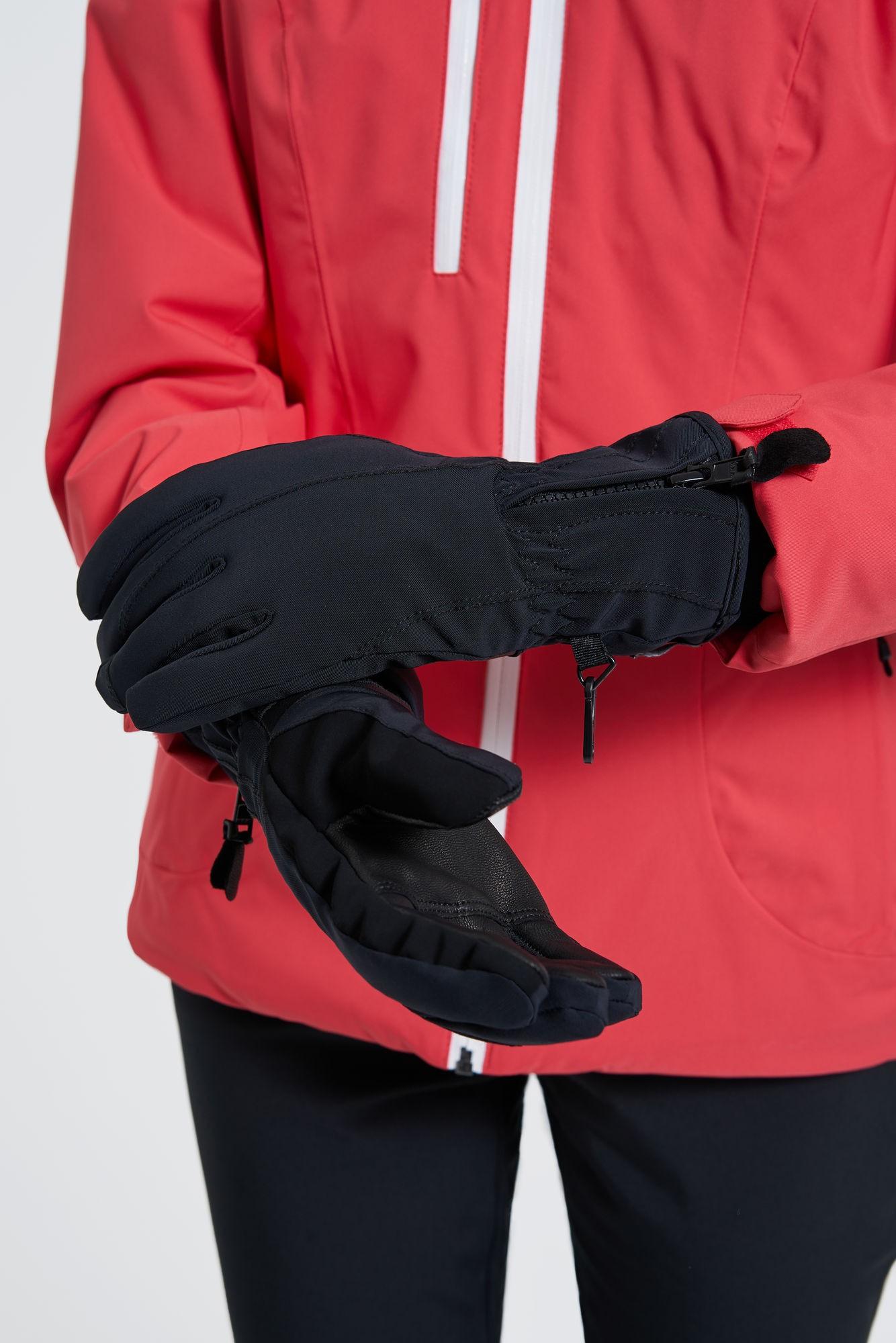 AUDIMAS Moteriškos pirštinės slidinėjimui 1-08-11 Black M