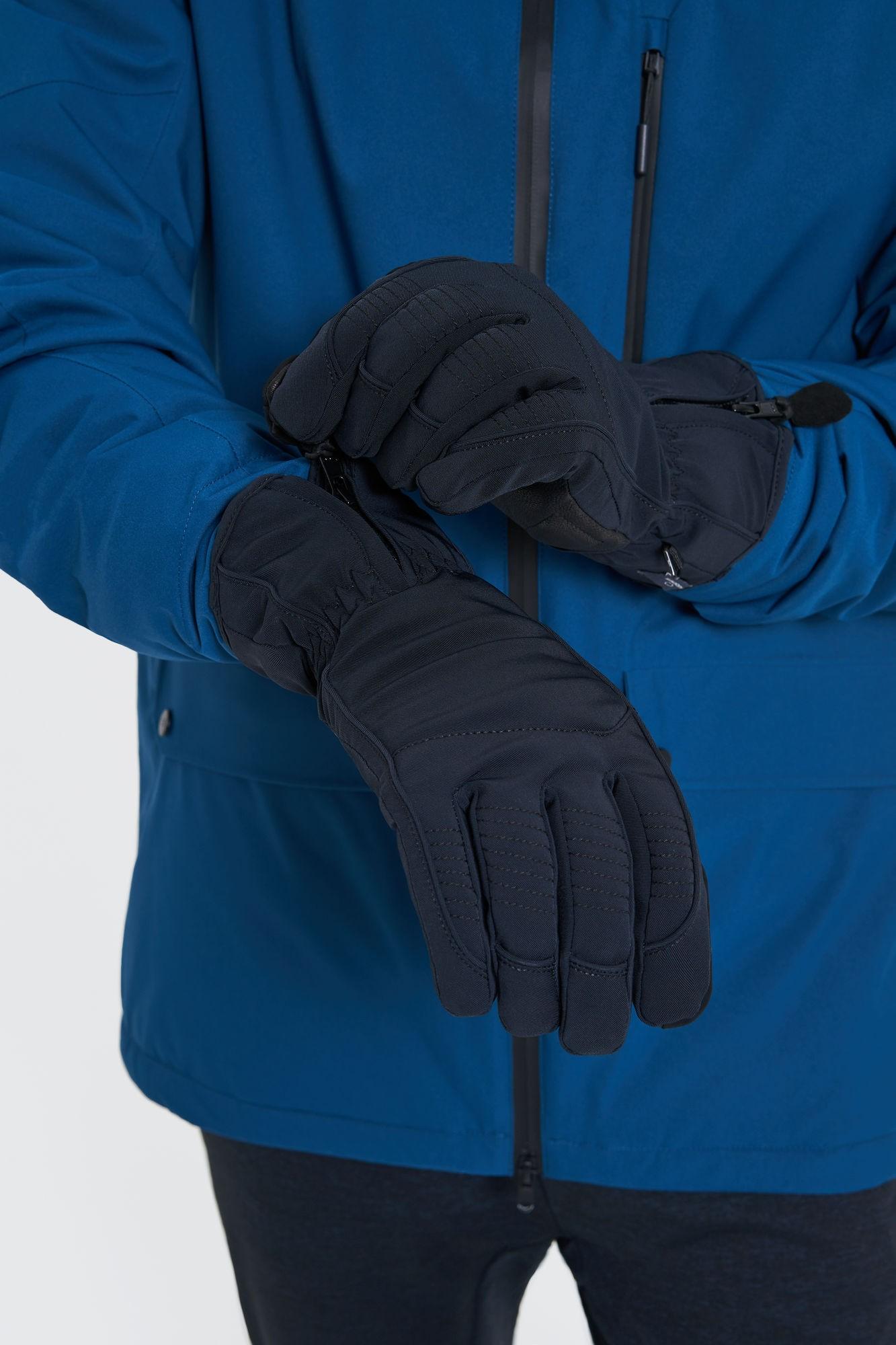 AUDIMAS Vyriškos pirštinės slidinėjimui 1-08-12 Black XL