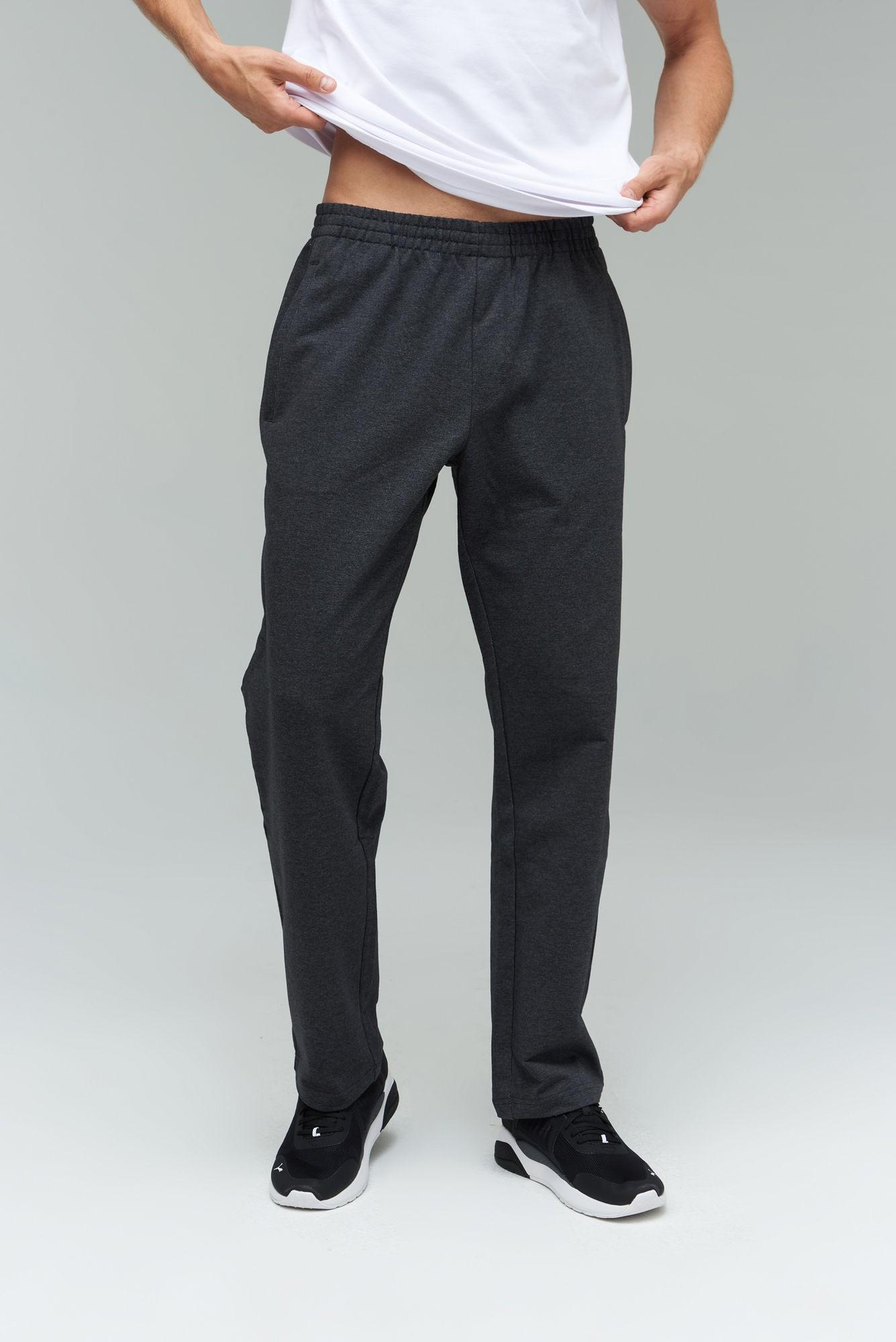 AUDIMAS Laisvo sil. tamprios medv. kelnės 1921-459 Dark Grey Melange 184/XL