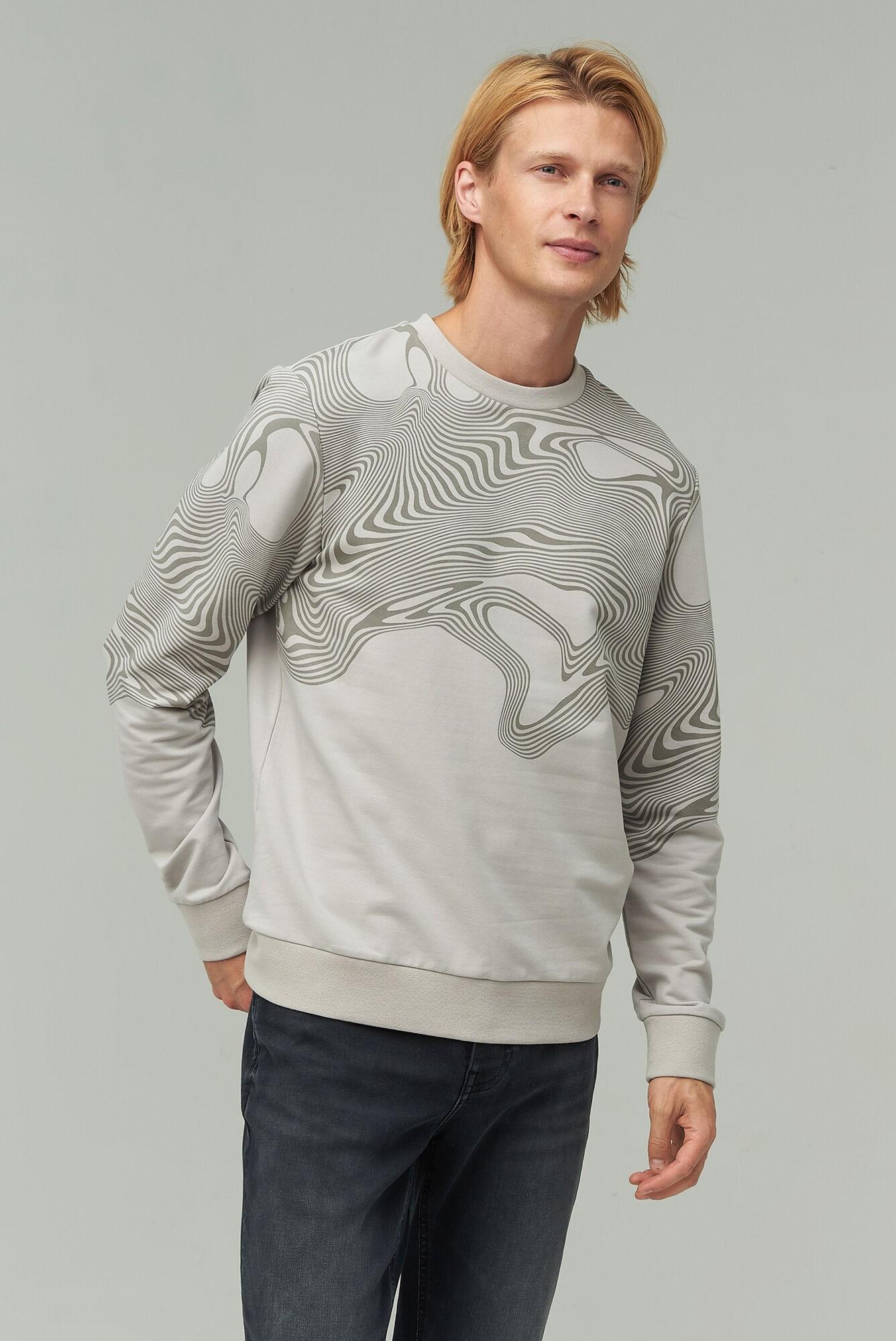 AUDIMAS Tamprus medvilninis džemperis 1921-566 Opal Gray XL