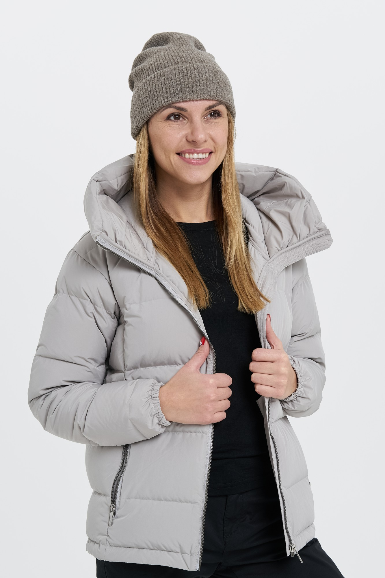 AUDIMAS Švelni megzta kepurė NOS 1-06-300 Pine Bark One Size