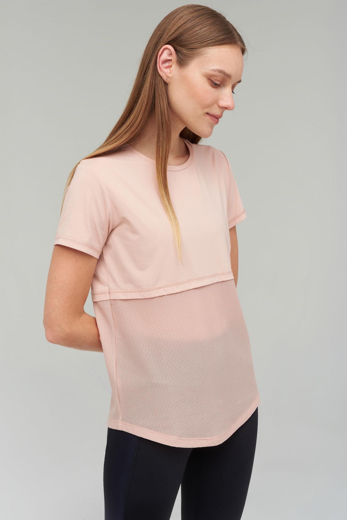 AUDIMAS Funkcionalūs marškinėliai 2021-185 Misty Rose XXL
