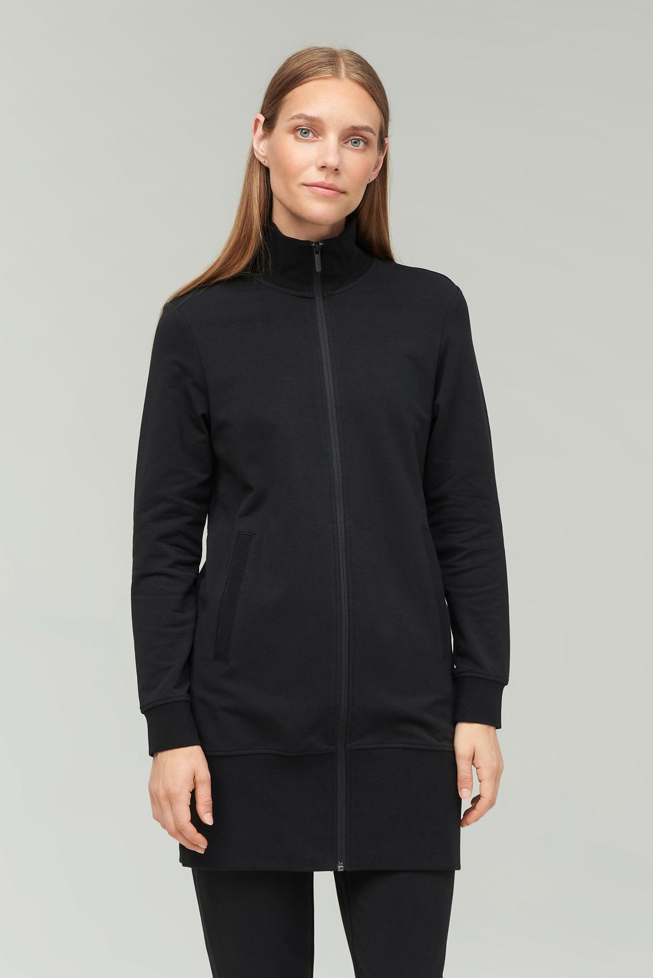AUDIMAS Atseg.ilgas medvilninis džemperis 2021-219 Black L