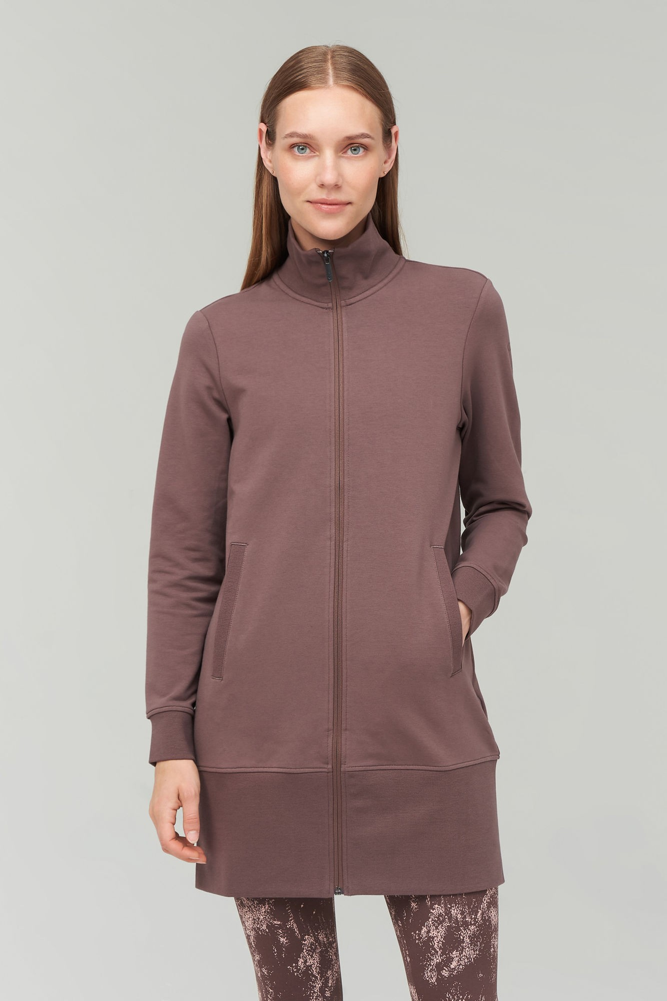 AUDIMAS Atseg.ilgas medvilninis džemperis 2021-219 Peppercorn S