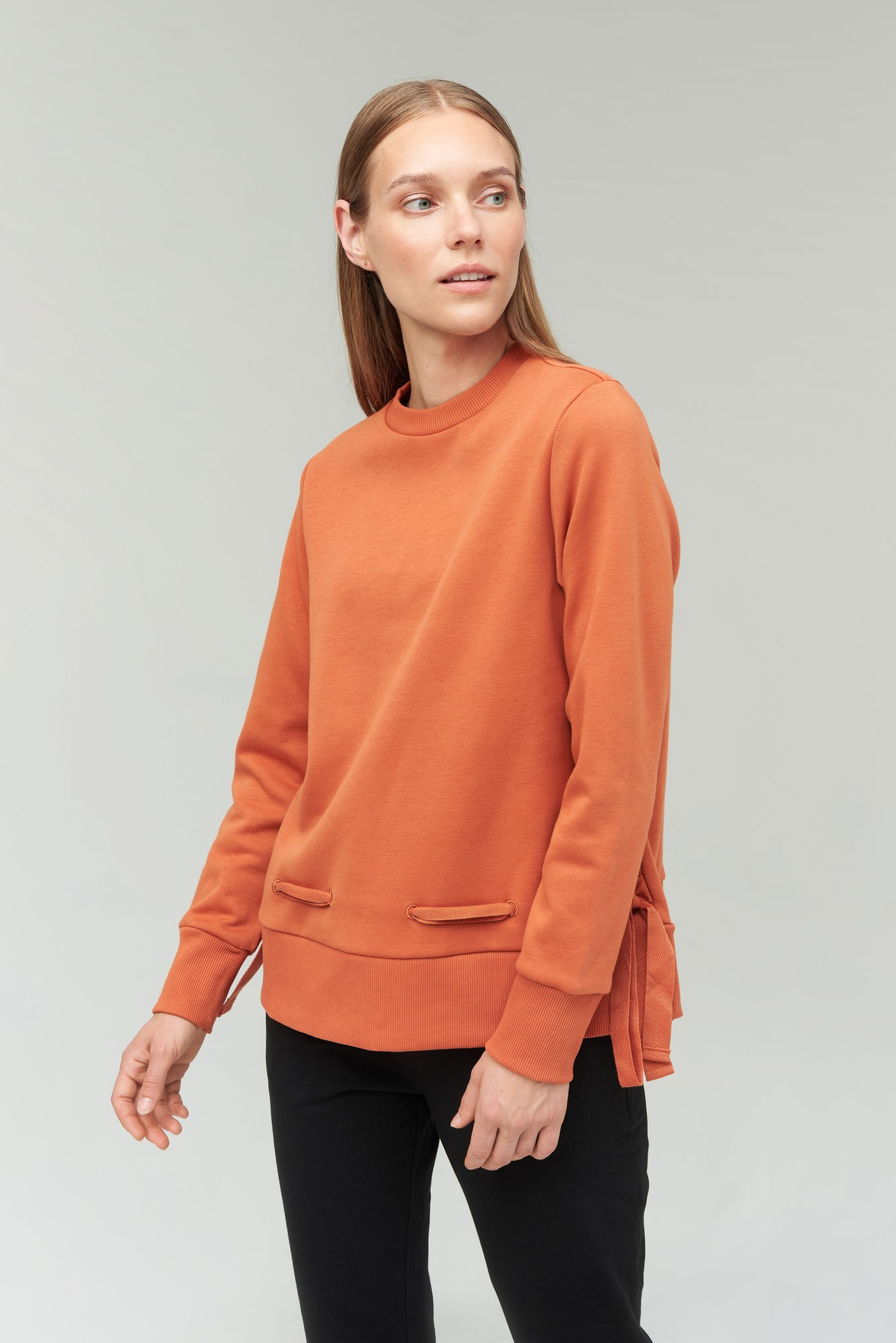 AUDIMAS Medvilninis džemp. švelniu vidumi 2021-256 Auburn M