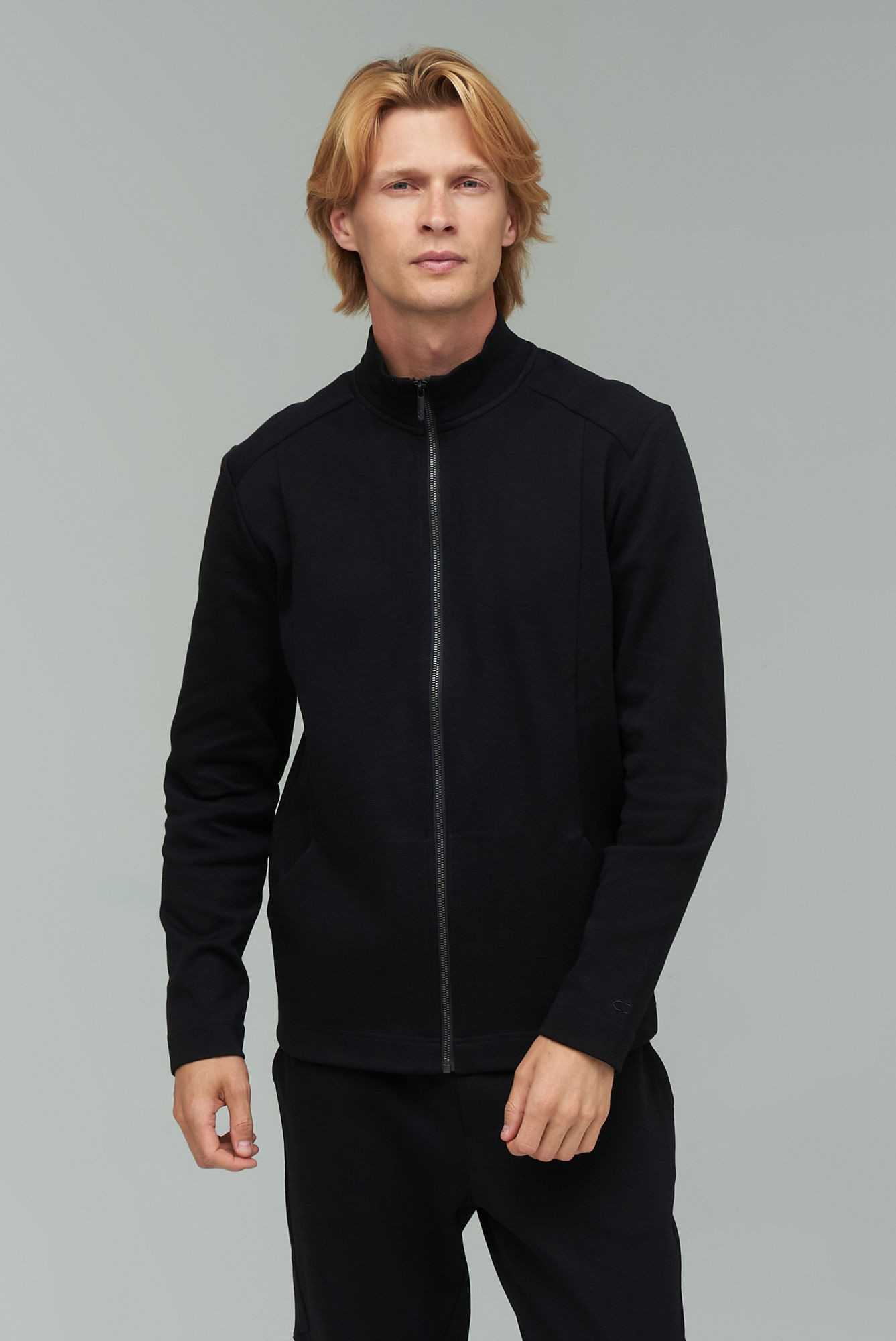 AUDIMAS Atsegamas medvilninis džemperis 2021-461 Black XL
