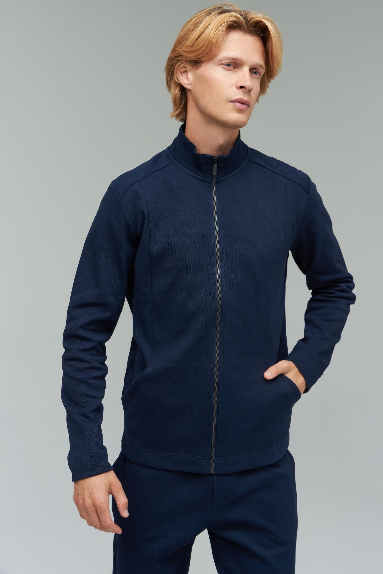 AUDIMAS Atsegamas medvilninis džemperis 2021-461 Navy Blazer L