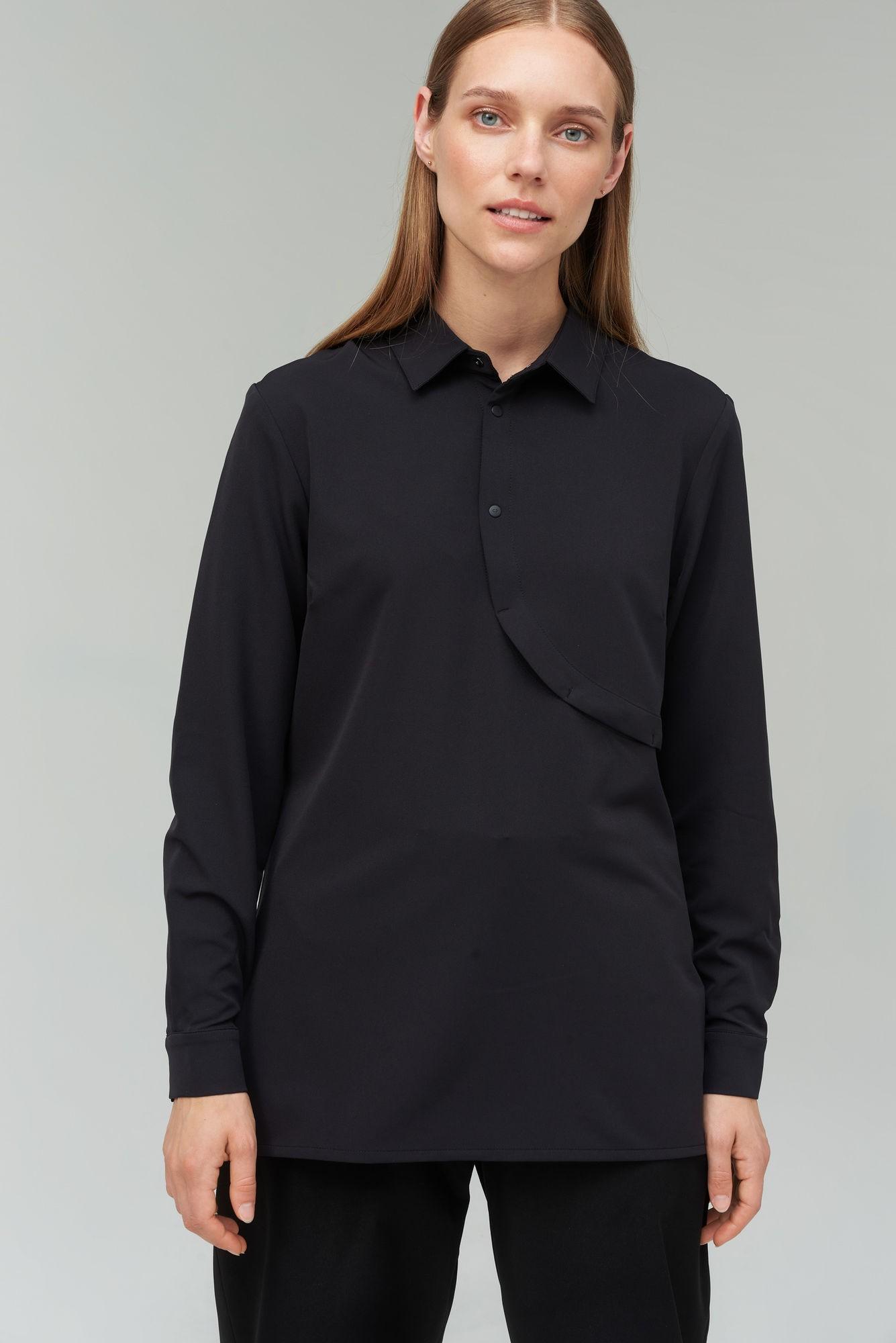 AUDIMAS Lengvi tamprūs marškiniai 20RM-001 Black XL