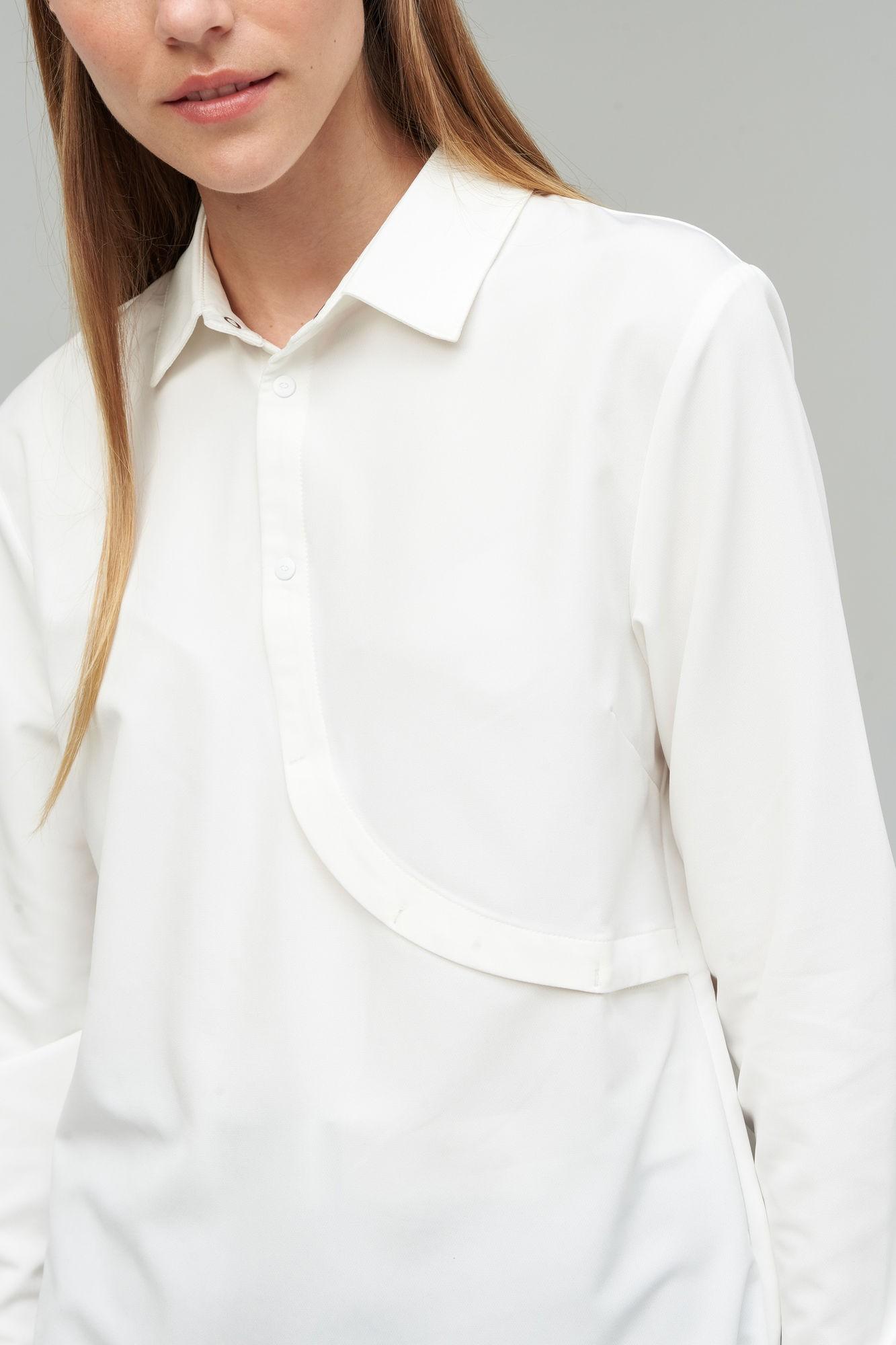 AUDIMAS Lengvi tamprūs marškiniai 20RM-001 White S