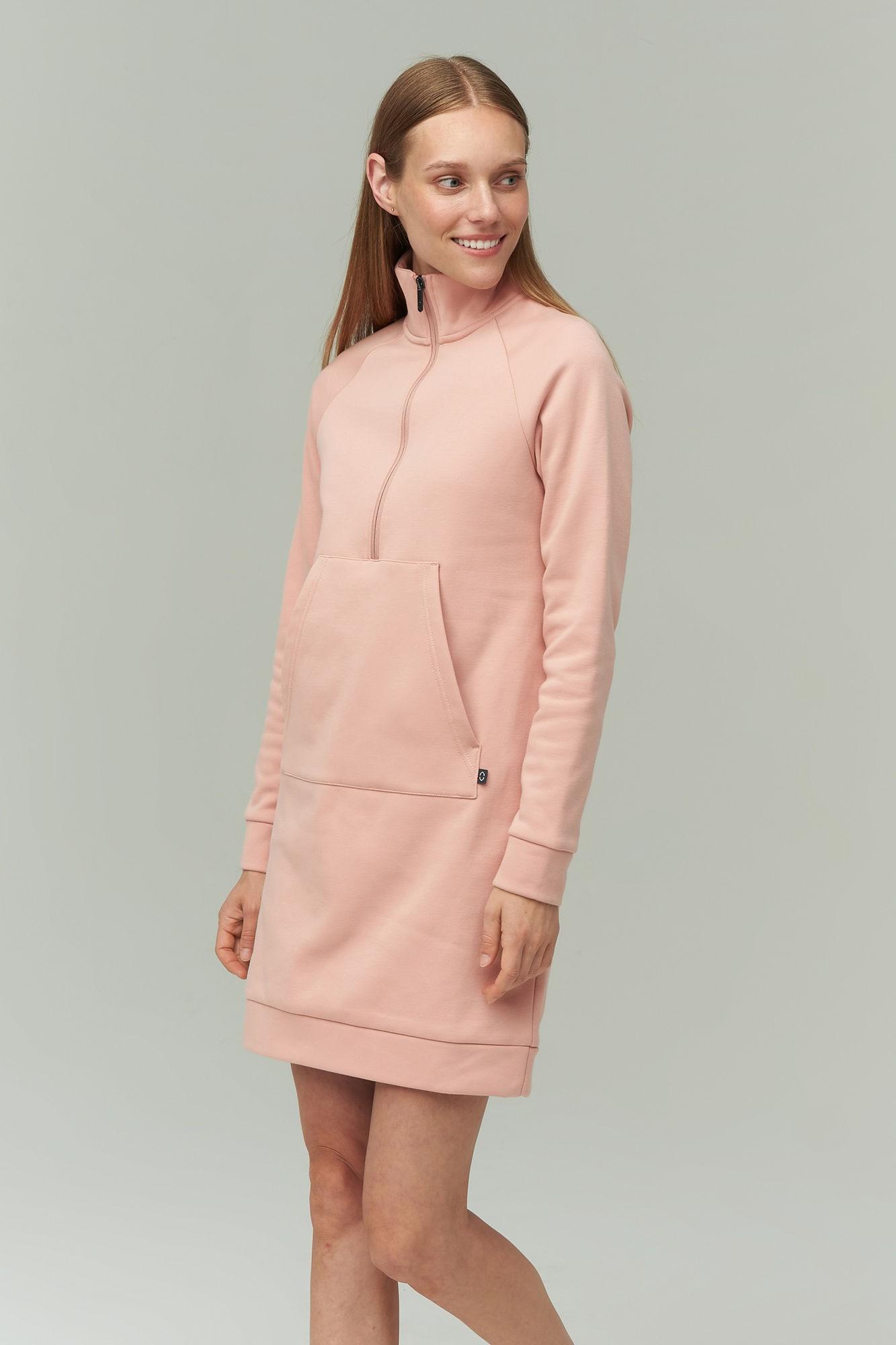 AUDIMAS Medvilninė suknelė švelniu vidumi 2021-069 Misty Rose XS
