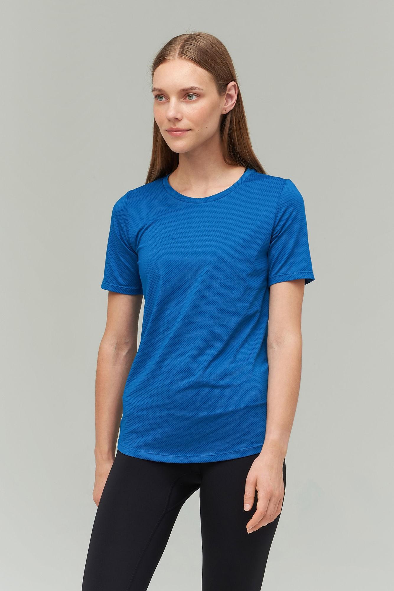 AUDIMAS Lengvi funkcionalūs marškinėliai 2021-245 Blue Sapphire XS