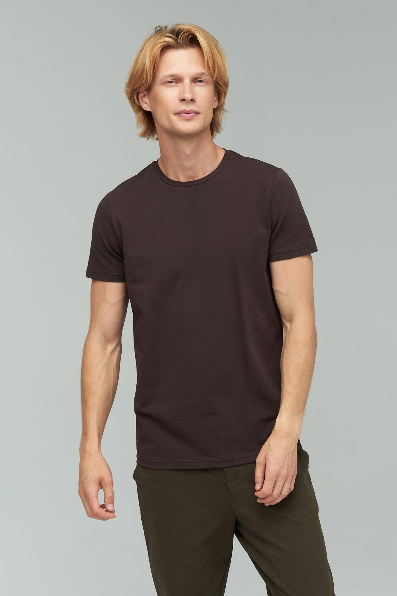AUDIMAS Tamprūs medvilniniai marškinėliai 2011-472 Chocolate Torte M