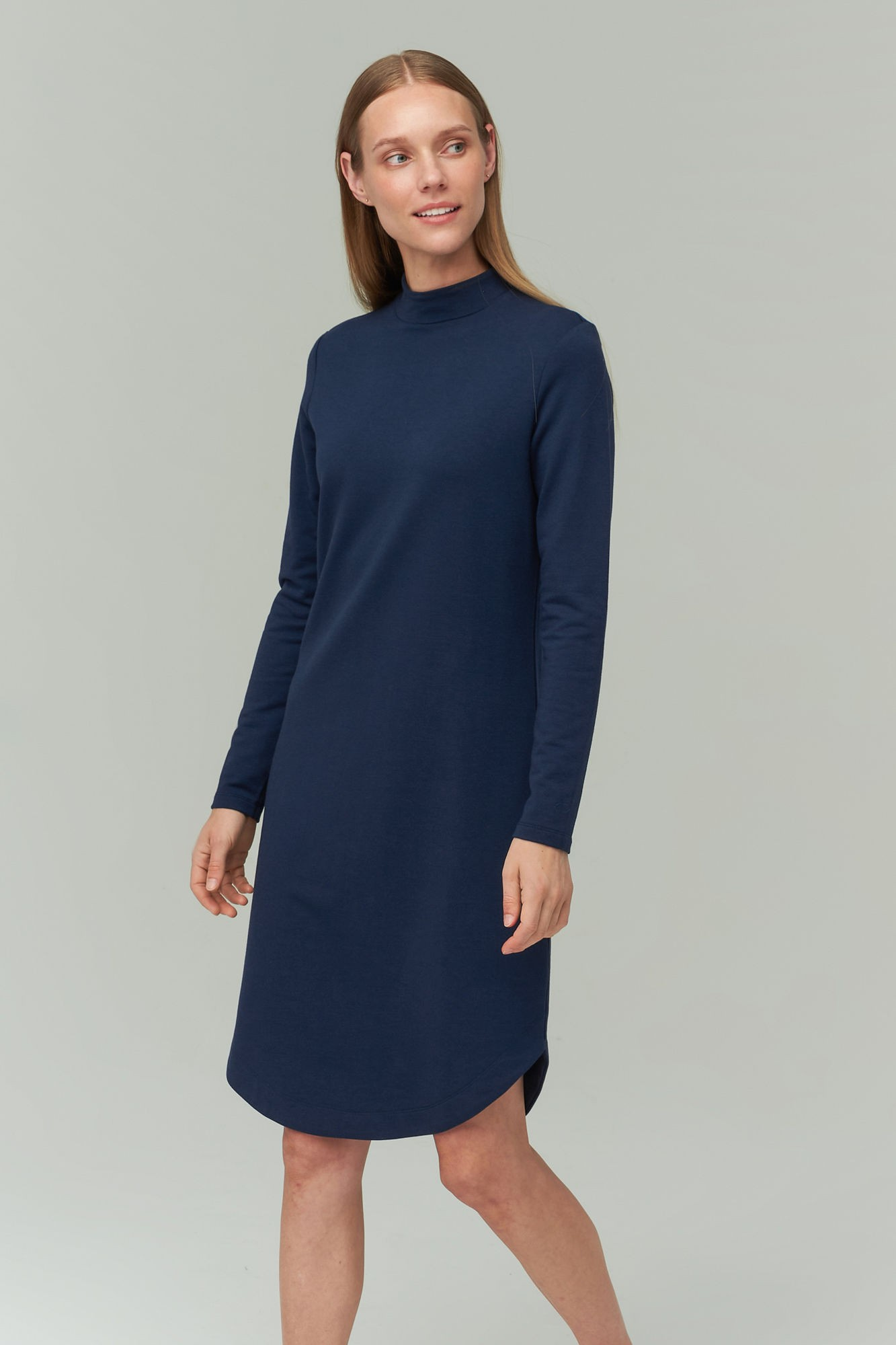 AUDIMAS Švelnaus modalo suknelė 2021-070 Navy Blazer XS
