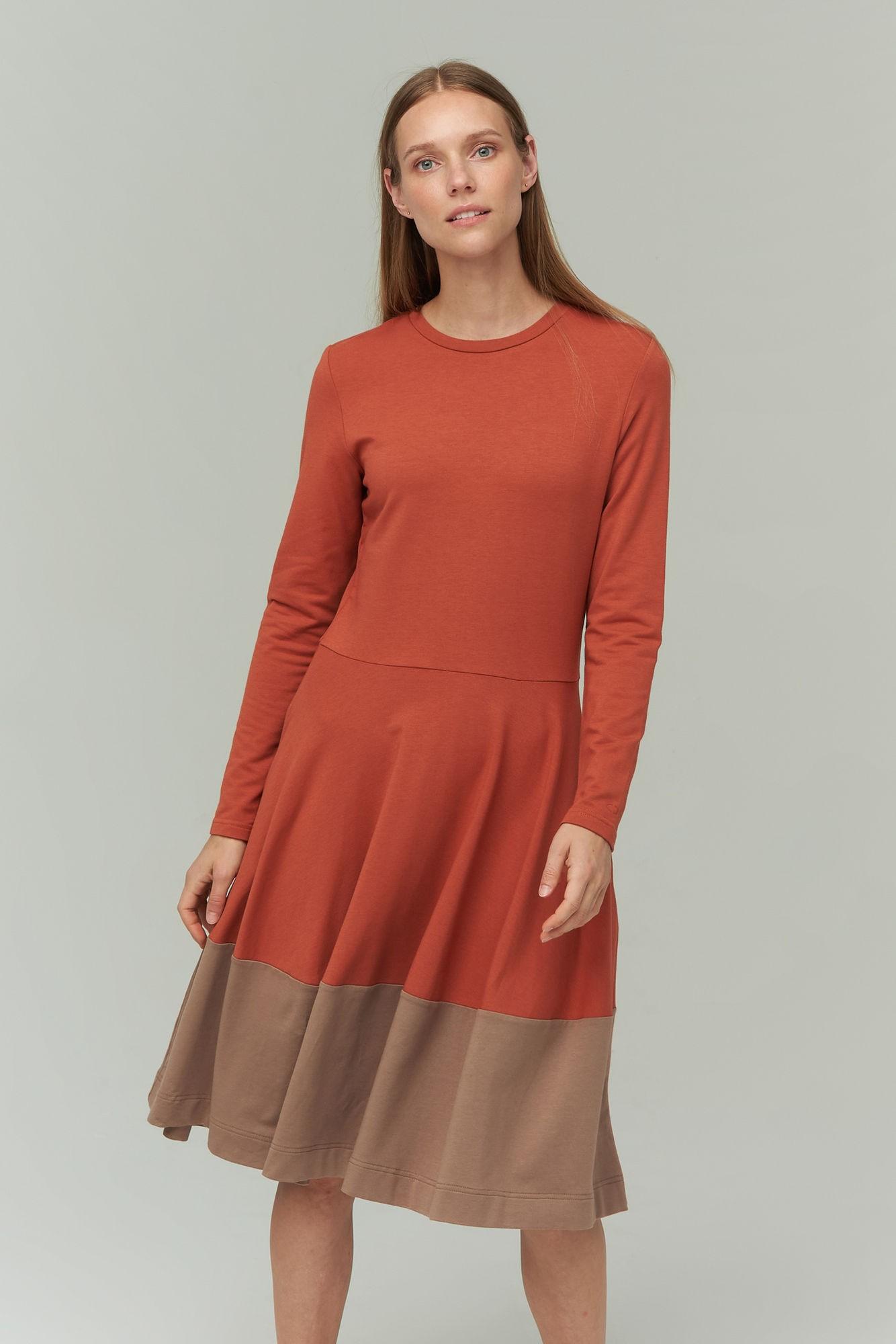 AUDIMAS Švelnaus modalo suknelė 2021-172 Auburn XL