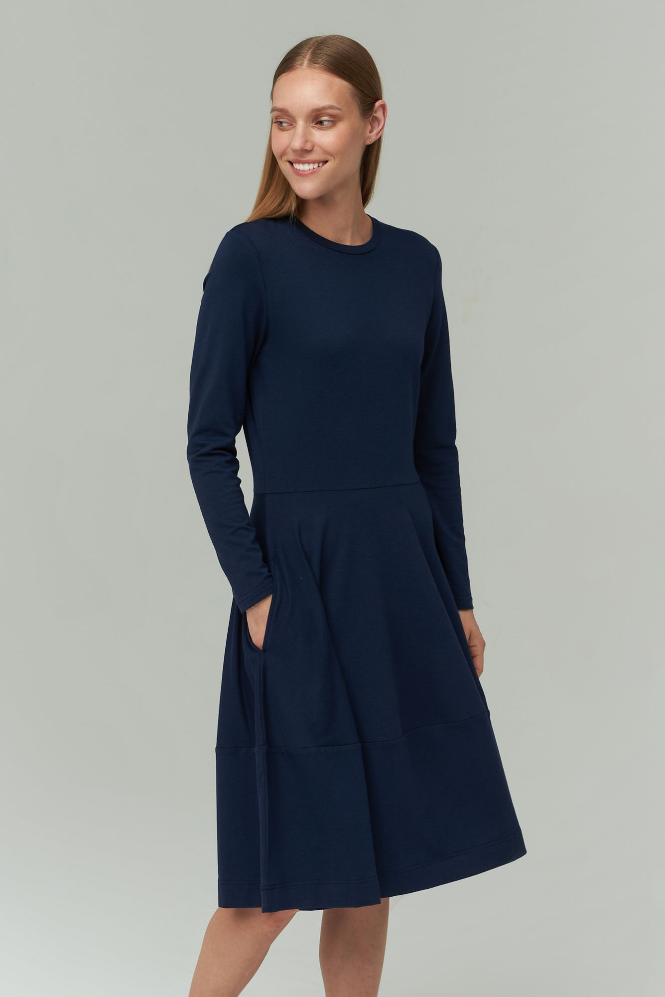 AUDIMAS Švelnaus modalo suknelė 2021-172 Navy Blazer L