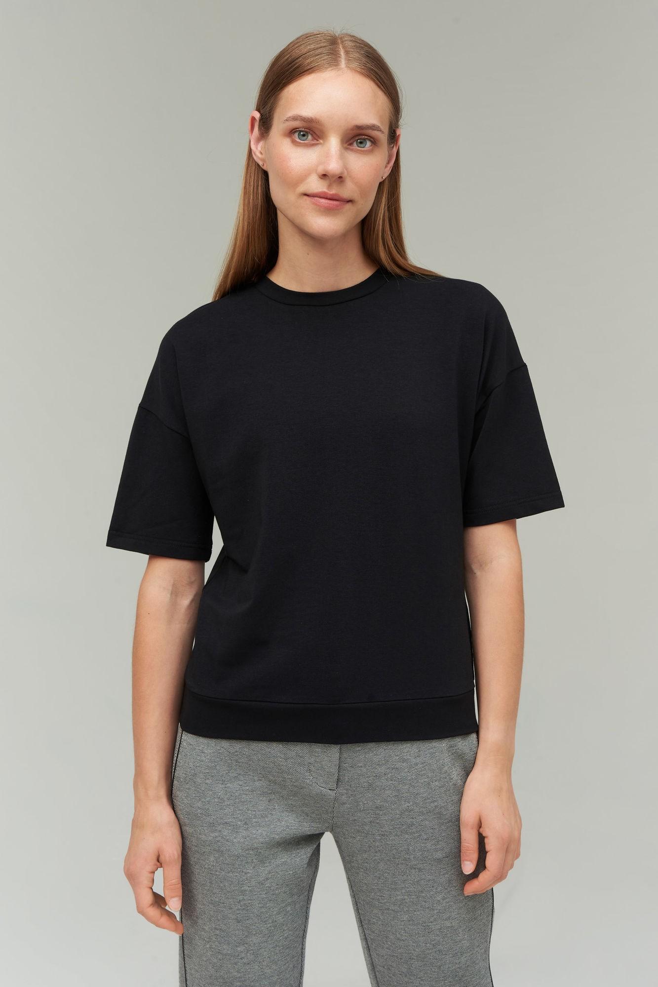 AUDIMAS Švelnūs modalo marškinėliai 2021-023 Black L