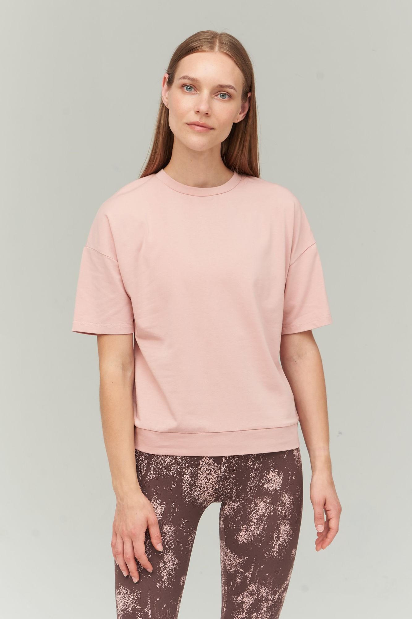 AUDIMAS Švelnūs modalo marškinėliai 2021-023 Misty Rose XS