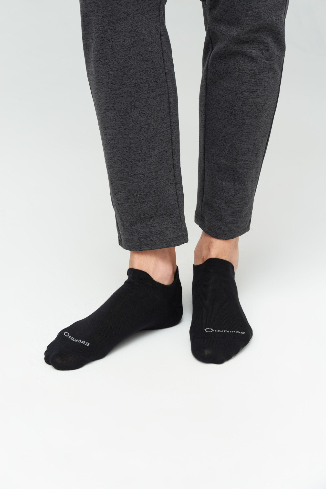 AUDIMAS Trumpos medvilnės pluošto kojinės 1-01-54 Black/Grey 38-40
